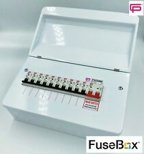 fusebox 10 way dual rcd metal consumer unit amd3 inc 10 x b type 60 Amp Fuse Box