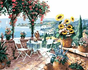 Landscape Lake Paint By Numbers Kit DIY Number Canvas Hand Painting Kits Oil