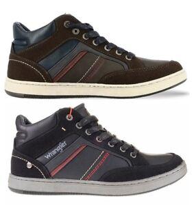 WRANGLER-MARSHALL-MID-scarpe-sneakers-alte-uomo-pelle-camoscio-tessuto-casual
