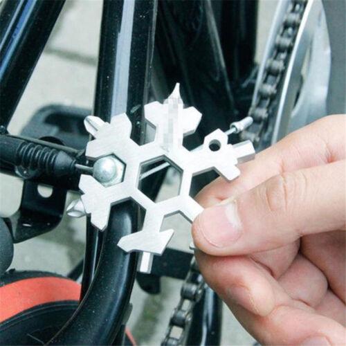 Snowflake Shape Multi Tool Snow Flake 18-1 Steel Flat Cross Household Hand Tool!