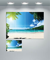 Beautiful Tropical Beach Sand Sea Landscape Giant Wall Art poster Print