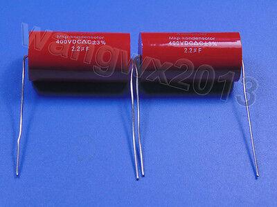 2pcs 400V 2.2uF MKP Crossover Membrane Polypropylene Non-Polarity Capacitor
