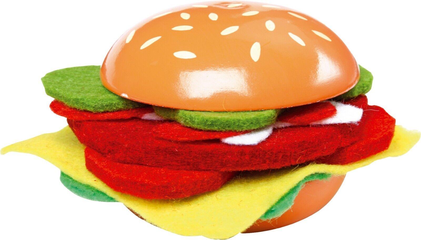 Kaufladen Kinderküche Cheesburger Fast Lebensmittel Food Kaufladenzubehör Lebensmittel Fast Holz 632bf7
