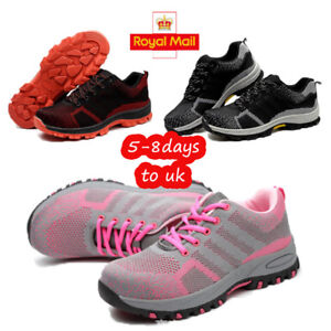 ce44a9289a3 Details about WOMENS LADIES ULTRA LIGHTWEIGHT STEEL TOE CAP WORK SAFETY  SHOES TRAINERS BOOTS