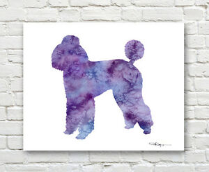 Details About Standard Poodle Contemporary Watercolor Abstract Art Print By Artist Djr