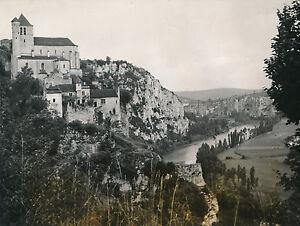 SAINT-CIRQ-LAPOPIE c. 1935 - Panorama L'Église Fortifiée Maisons Lot - DIV 8812 K7LVXBch-09152413-245385668