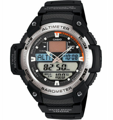 Casio SGW-400H-1 Mens Sports Twin Sensor Watch Altimeter Barometer