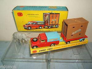 Corgi Toys Modèle No.gs 19 Land Rover avec Elephant & Gage Vn Mib