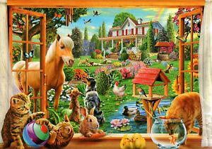 1000-Pezzi-Puzzle-Animali-in-Giardino-Sigillato-Nuovo-di-Zecca-amp