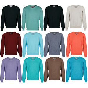 Details about Marks & Spencer Mens V Neck Jumper New M&S Pure Cotton Knitted Sweater Pullover