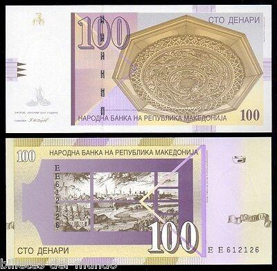 B-D-M Macedonia 100 denari 1. 2007 Pick 16G SC UNC