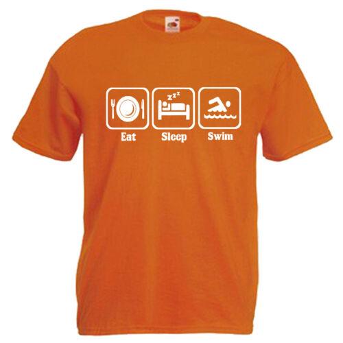 Swimming Swimmer Swim Slogan Children/'s Kids Childs T Shirt