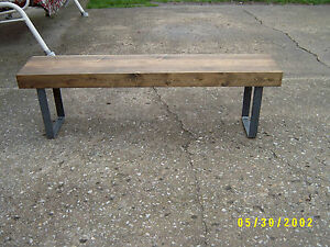 Sensational Details About Wooden Bench Metal Legs 48 X 12 X 18 Gmtry Best Dining Table And Chair Ideas Images Gmtryco