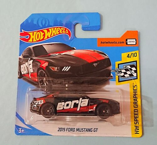 Hot Wheels New Collectable Toy Model Car on Short Card. 2015 Ford Mustang GT