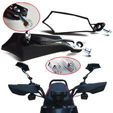 BLACK MOTORCYCLE REARVIEW MIRRORS FOR HONDA SUZUKI CHOPPER BOBBER CRUISER 8/10MM