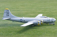 """Model Airplane Plans (RC): Boeing B-29 Superfortress 1/12 Scale 140""""ws  4-60's+"""