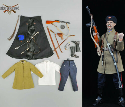 1//6 Male Soldier Clothing Set WWII Soviet Cossack Cavalry No Figure No Head Toy