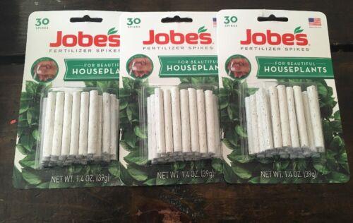 3 Package Jobes Fertilizer Spikes For Beautiful Houseplants 13-4-5 90ct NIP
