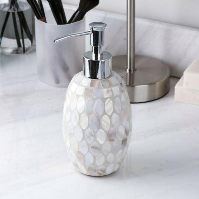 2 Pc Liquid Dispenser Set Lotion Soap Home Bathroom Kitchen Accessory Glass For Sale Online Ebay
