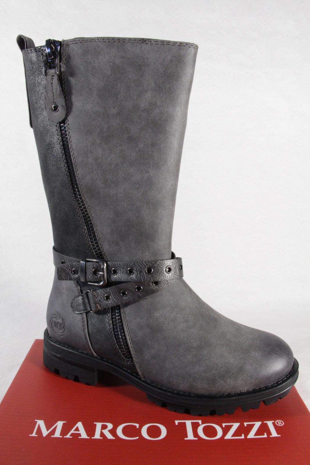 Marco Tozzi 46605 Stiefel, RV Stiefelette, Boots, grau, gefüttert, RV Stiefel, NEU! 481230