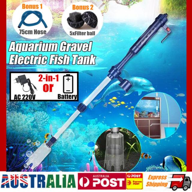 Aquarium Electric Syphon Fish Tank Pump Water Filter Vacuum Gravel Sand Cleaner