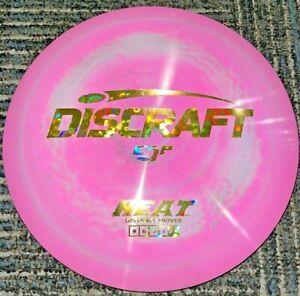 NEW DISCRAFT SWIRLY ESP HEAT DISC GOLF DRIVER PINK / GOLD FLOWER STAMP 173-4G