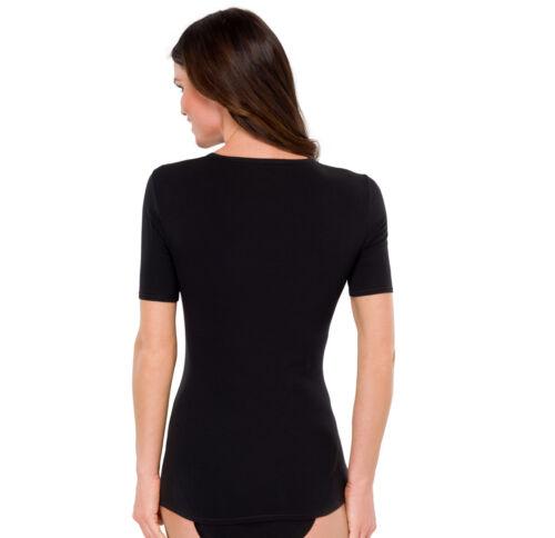 SCHIESSER 95//5 Damen Basic T-Shirt Kurzarm Gr 40-48 L-4XL Unterhemd Tagwäsche