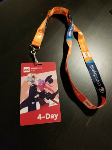 ANIME EXPO AX 2018 EXCLUSIVE CRUNCHY ROLL LANYARD