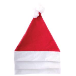 3 X Santa Hat Christmas Party Triple Pack Adult Unisex Father Xmas Claus Felt