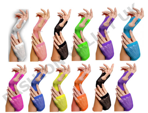NEON TUTU ACCESSORIES 80/'s FANCY DRESS SKIRT NECKLACE HEAD BAND BRACES TIES