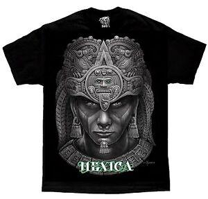 Mexica-Aztec-Tribal-Mexico-Calendar-Chicano-Art-by-David-Gonzales-DGA-T-Shirt