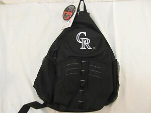 Details About 2019 Colorado Rockies Sling Backpack School Bag Book One Strap Laptop Large 20