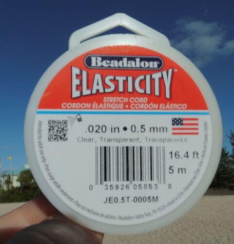 0,8 und 1,0 mm Beadalon elasticity Transparent clear 0,5