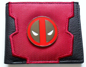 Cartoon-broderie-Deadpool-Wallet-Noir-Rouge-fenetre-d-039-identifiant-de-emplacements-de-carte