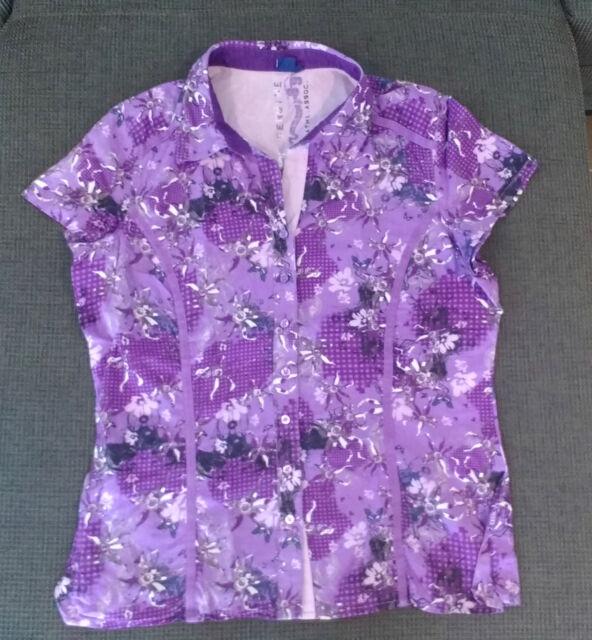 Schöne Bluse von CECIL lila gemustert Gr. S