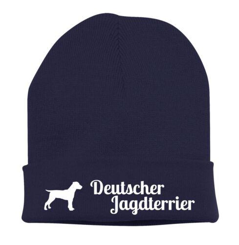Beanie Strickmütze Mütze Stickmotiv DEUTSCHER JAGDTERRIER Hunde Siviwonder