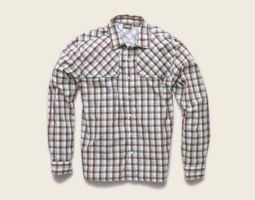 Howler Brothers PESCADOR PESCADOR PESCADOR Shirt  Tyson Plaid Burgundy Mist NEW  Closeout Small 2c565c