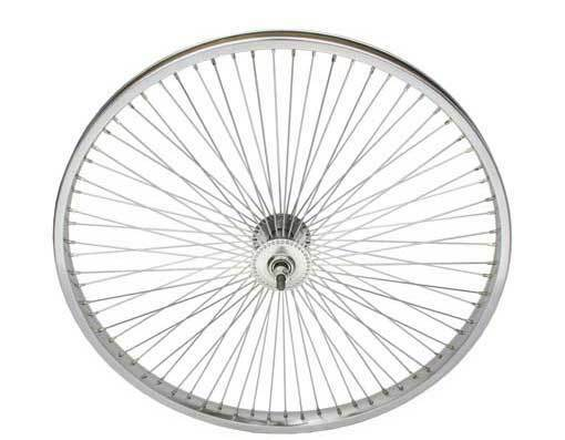 LOW RIDER LOWRIDER BIKE BICYCLE 24  72 Spoke Front Wheel 14G Chrome