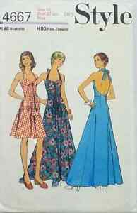 Style-4667-Size-12-Vintage-Summer-Dress-halter-neck-maxi-knee-length-size-12