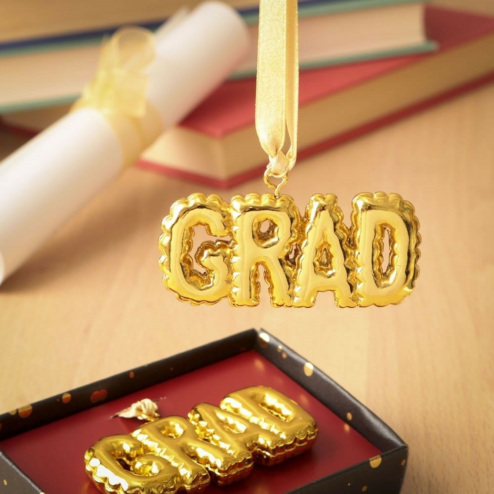 48 Gold Grad Hanging Ornament Graduation Party Gift Favors