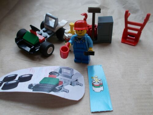 RACE CAR OIL DRUM /& TROLLEY TOOLS /& STORAGE LEGO CITY GARAGE SCENE MECHANIC