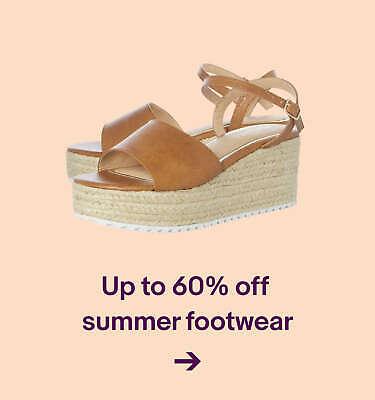 Up to 60% offsummer footwear