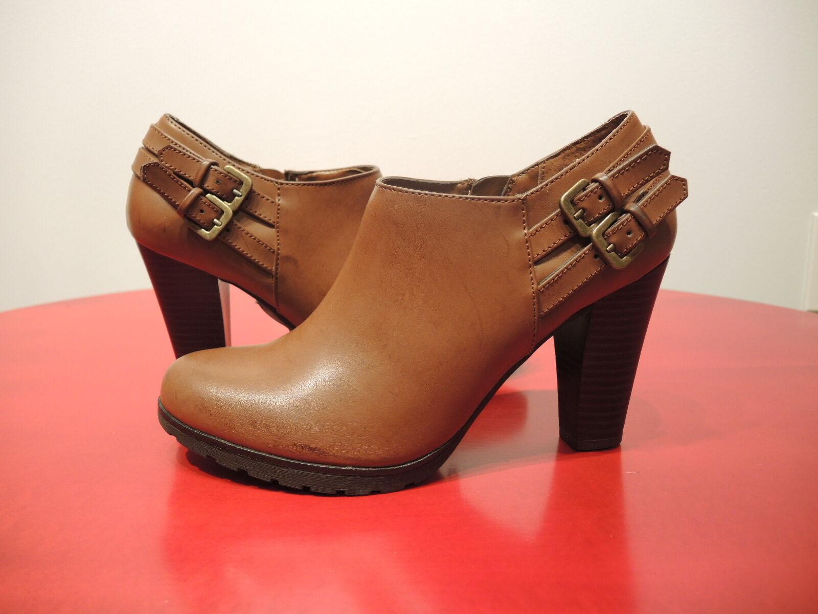 White Mountain Heeled Booties Size 7 1 2  - orange Brown was  159