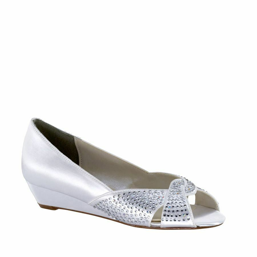 Donna's Touch Ups Alice Low Wedge bianca Dimensione 8.5  NCM41-M64