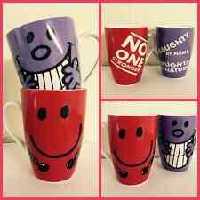 Mr Men & Little Miss Mug Pair ~ Mr Strong & Miss Naughty Latte Hot Chocolate Mug