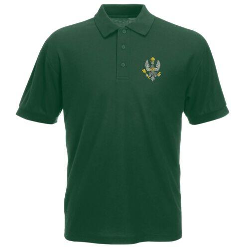 Kings Royal Hussars Polo Shirt Embroidered Logo Kings Royal Hussars