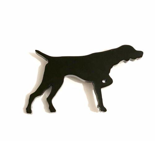 Broche Pin Insignia de Perro Puntero Bufanda Sujetador Regalo en Negro con Bolsa De Regalo