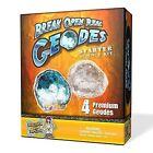 Geode Starter Rock Science Kit - Crack Open 4 Rocks and Find Crystals