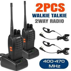 2 PC Baofeng BF-888S Walkie Talkie Headset 2-Way Radio UHF 400-470MHz 16CH