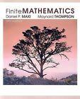 Finite Mathematics by Maynard Thompson, Daniel Maki (Paperback / softback, 2005)